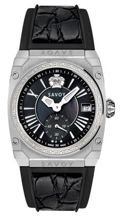 Savoy Icon Light 35mm Swiss Made Diamond Ladies Watch Stainless Steel – Black C1102A.01C.RB22 #SavoyIndia