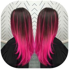"""""""Another view of this pink balayage because why not?"""""""