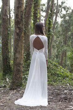 Espalda Vestido Novia San Simón.