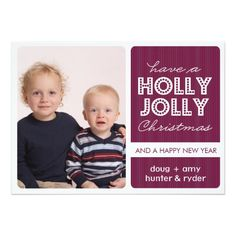 Shopping 'Holly Jolly' (DEMICK) Holiday Photo Card we are given they also recommend where is the best to buy Holiday Invitations, Holiday Photo Cards, Happy New Year, Smudging, Paper Texture, Merry, Joy, Prints, Shopping