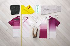 These collections represent outfits by Ashworth that Justin Rose would wear during major golf tournaments.  The look is relaxed.  A lot of fun incorporating the different props that represent items specific to the event or course.