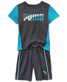 114ca757d4c Puma Little Boys' 2-Pc. T-Shirt & Shorts Set & Reviews - Sets & Outfits -  Kids - Macy's