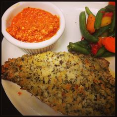 Fresh Red Snapper tossed in Italian Herbs and Panko bread crumbs, then sautéed and served with house-made Roasted Red Pepper Pesto