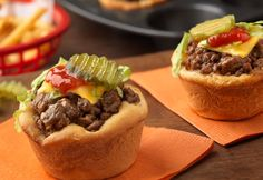Mini Cheeseburgers for Super Bowl XLIX - foodista.com