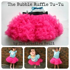 The Bubble Ruffle Tu-Tu by The Creative Vault. A tutorial.