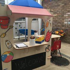 EYFS outside area / role play - beach shop