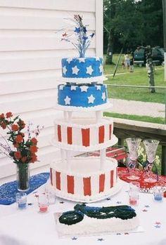 Patriotic Wedding Cakes | The Wedding Specialists