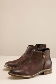 100% authentic adef0 dbc16 Buy Leather Washed Zip Chelsea Boots from the Next UK online shop