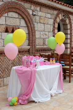 Baptism decoration idea