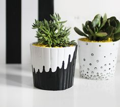 Dress up the pot on your desk with a little paint.