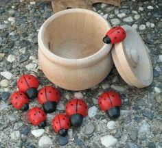 Perfect for the ladybug fairy garden