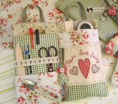 New sewing machine projects clothes fabrics ideas Sewing Caddy, Sewing Box, Sewing Notions, Sewing Kits, Small Sewing Projects, Sewing Hacks, Sewing Crafts, Sewing Baskets, Craft Bags