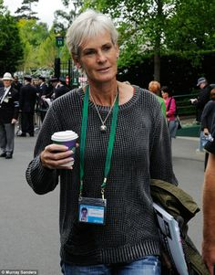 New do: Andy Murray's mother Judy sported a grey hair do today as she arrived at day one of Wimbledon Tennis Championships 2013 to support her son. And doesn't she look great?