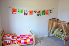 2D Clothes and Clothesline..cute for babies room or a laundry room.. switch out the clothing for each season!