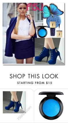 """""""FSJ Shoes"""" by fatimka-becirovic ❤ liked on Polyvore featuring MAC Cosmetics, Yves Saint Laurent and fsjshoes"""