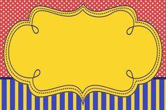 Montando a minha festa: Poá e listras amarelo, vermelho e azul