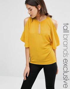 Image 1 ofAlter Tall Cold Shoulder Floaty Blouse