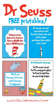 WorldWideMom - WorldWideParty: Dr Seuss Day - celebrate with free printable Wall Art!