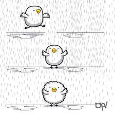 #opi #cute #kawaii #character #illustration #ilustración #dibujo #rain