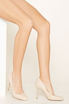 Faux Leather Pumps (Nude)
