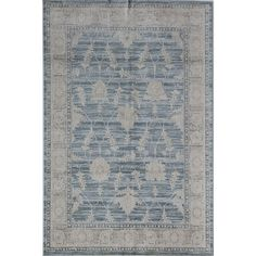 CosmoLiving by Cosmopolitan Wilshire Arctic Blue 5 ft. x 8 ft. Rectangle Oriental Polypropylene Area Rug - The Home Depot Wool Carpet, Rugs On Carpet, Grey Carpet, Carpets, Farmhouse Rugs, Polypropylene Rugs, Rug Material, Carpet Runner, Blue Area Rugs