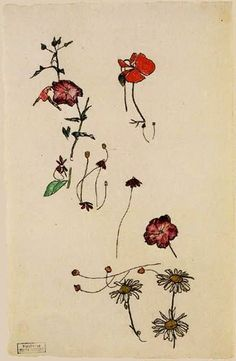 Egon Schiele - Flower Studies