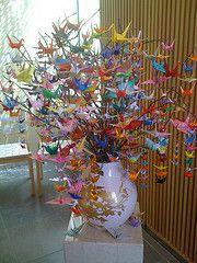 Origami Crane Tree Paper Salmon 3 Photos 117