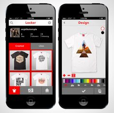 Design and Make Custom T-Shirts from Your Phone via Brit + Co.