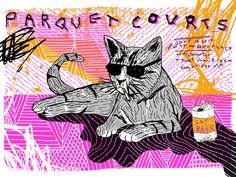 Parquet Courts gig poster by Nate Duval