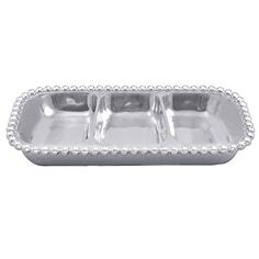 Amazon.com: Mariposa Pearled Small 3-Section Server: Home & Kitchen