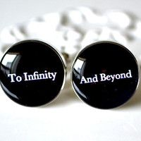 To infinity and beyond cufflinks - wedding day keepsake gift for groom, husband or maybe do to themoon and back Wedding Mood Board, Wedding Pins, Our Wedding Day, Wedding Ideas, Dream Wedding, Wedding Disney, Wedding Stuff, Wedding Flowers, 2016 Wedding Trends