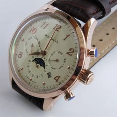 New Sea-Gull multi-functional automatic mechanical watch Original Vintage, Gull, Mechanical Watch, Small Things, Omega Watch, Mens Fashion, Sea, Watches, Style