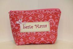 *Beste Mama*  Kosmetiktäschchen rosarot  von byGretchen auf DaWanda.com