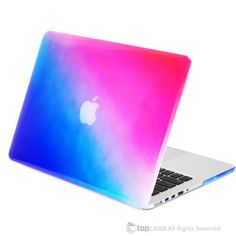 """Faded Ombre Blue & Hot Pink UV High Glossy Hard Case for MacBook Pro 13"""" with Retina Display"""