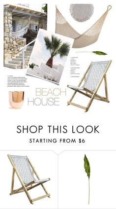 """""""Beach House"""" by ashley-rebecca ❤ liked on Polyvore featuring interior, interiors, interior design, home, home decor, interior decorating, Studio One Solutions, CB2, beachhouse and outdoorliving"""