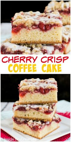 Cherry pie filling and oatmeal crisp makes this buttery coffee cake a great choice for breakfast.