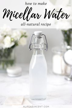 This natural micellar water forms REAL micelles that remove makeup and cleanse your skin! Simple, easy recipe with witch hazel. natural make up diy Natural DIY Micellar Water With Witch Hazel Piel Natural, Natural Skin, The Body Shop, Beauty Care, Diy Beauty, Homemade Beauty, Beauty Secrets, Sephora, Diy Cosmetic