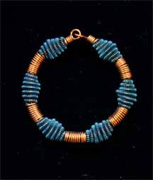 BRACELET WITH COIL SPRING SPACERS