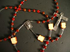 peanut butter jelly time rosary by kriswinningham on Etsy, $50.75