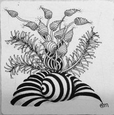 Tangled Up In Art: One Zentangle a Day - Day 25 and Doodles Zentangles, Tangle Doodle, Zentangle Drawings, Zen Doodle, Doodle Drawings, Doodle Art, Zantangle Art, Zen Art, Doodle Patterns