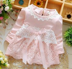 2016 Spring Long Sleeve Lace Bow Baby Party Birthday girls kids Children Cotton dresses, princess infant Dress Vestido - Kid Shop Global - Kids & Baby Shop Online - baby & kids clothing, toys for baby & kid Girls Party Dress, Little Girl Dresses, Girls Dresses, Baby Dresses, Princess Dress Kids, Princess Tutu, Princess Wedding, Baby Shop Online, Baby Girl Fashion