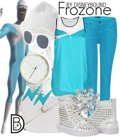 You will be the coolest girl on the block in a Frozone outfit. | Disney Fashion | Disney Fashion Outfits | Disney Outfits | Disney Outfits Ideas | Disneybound Outfits |