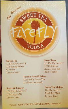 Sweet tea vodka drinks from Firefly