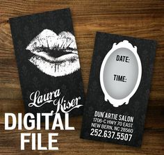 Custom Make-up Artist Business Cards - DIGITAL FILE DOWNLOAD
