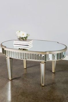 HauteLook | Statements By J: Mirrored Oval Shaped Coffee Table