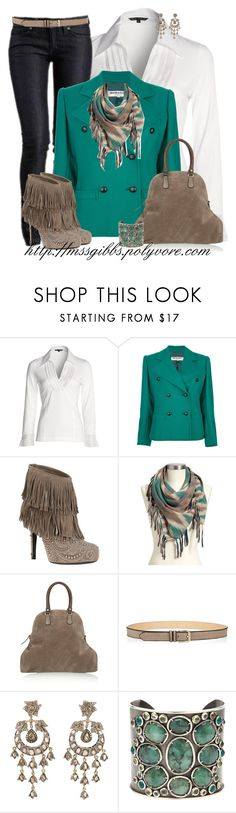 """""""Fringed Casual"""" by mssgibbs ❤ liked on Polyvore featuring NIC+ZOE, Yves Saint Laurent, Philipp Plein, Old Navy, Marni, Jigsaw, Petralux and Rene Escobar"""