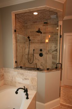 Newly Remodeled Shower Stall