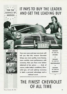 1942 Chevrolet ad