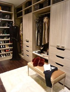 Master bedroom closet in Antony Todd designed Veranda apartment