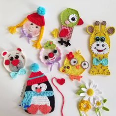 Crochet Applique Patterns Free, Granny Square Crochet Pattern, Crochet Motif, Easy Crochet, Crochet Flowers, Crochet Baby, Organizing Hair Accessories, Flower Crafts, Baby Knitting